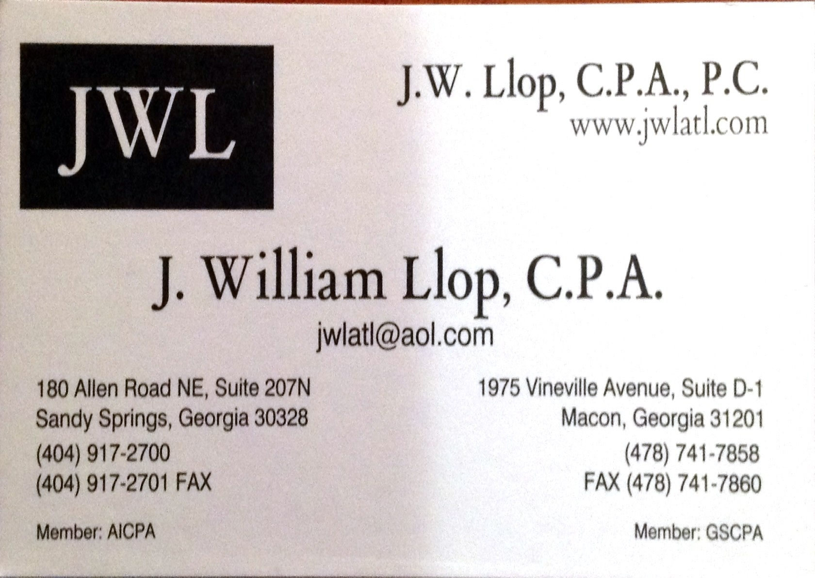 J. William Llop, C.P.A.